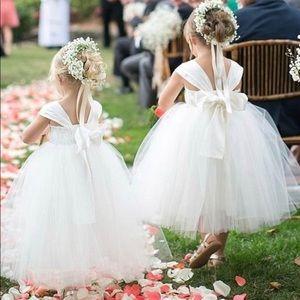 Custom Made Cream Flower Girl Dress Toddler